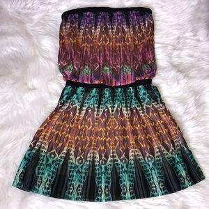 BCBGMaxazria Taja Printed Pleated Dress